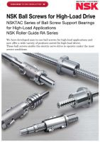 NSK Ball Screws for High Load Drive